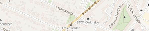 Karte Manetstraße Berlin