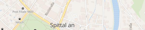 Karte Parkplatz Bernhardtgasse Spittal an der Drau
