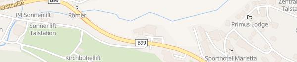Karte Alpenhotel Römerhof Obertauern