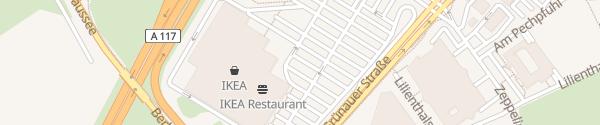 Karte IKEA Waltersdorf Schönefeld
