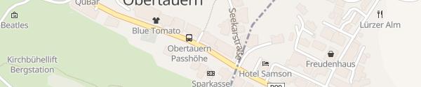 Karte Alpenhotel Perner Obertauern