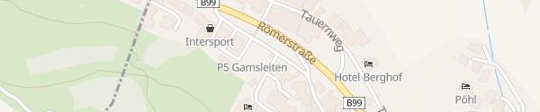 Karte Parkplatz Gamsleiten 1 Obertauern