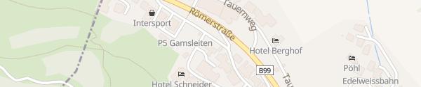 Karte Deutscher Alpenverein DAV Haus Obertauern