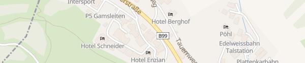Karte Hotel Restaurant Taverne Obertauern