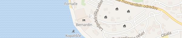 Karte Grand Hotel Bernardin Portoroz