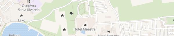 Karte Aminess Maestral Hotel Novigrad