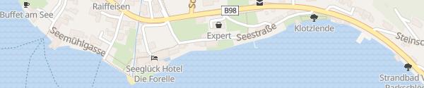 Karte Hotel See-Villa Millstatt