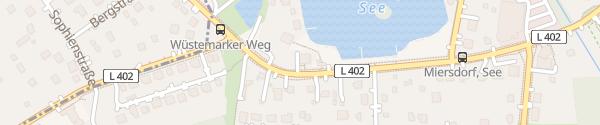 Karte Wirtshaus am See Zeuthen
