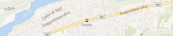 Karte Srebrničeva ulica Deskle