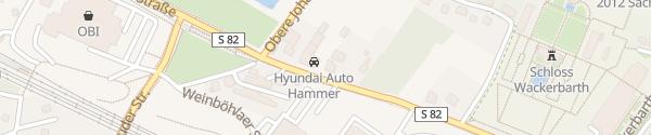 Karte Hyundai Auto Hammer Radebeul