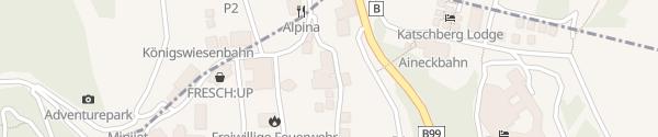 Karte Hotel Katschberghof Rennweg am Katschberg