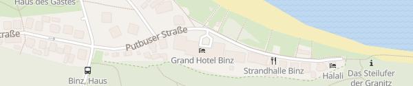 Karte Grand Hotel Binz Binz