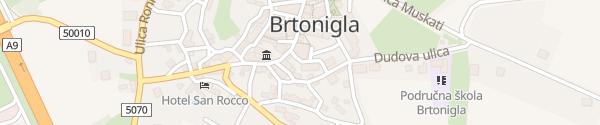 Karte Mlinska Brtonigla
