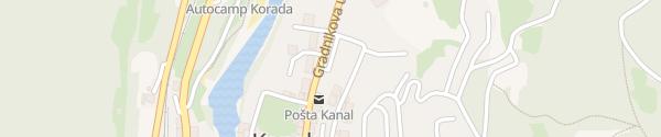 Karte Gradnikova ulica Kanal