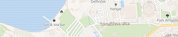 Karte San Simon Izola