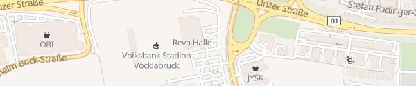 Karte REVA Halle Vöcklabruck