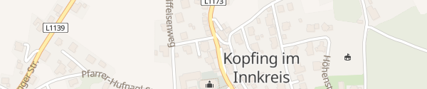 Karte Raiffeisenbank Kopfing im Innkreis