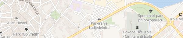 Karte Izolska ladjedelnica parkirisce Izola