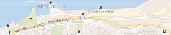 Karte Potniški terminal Koper