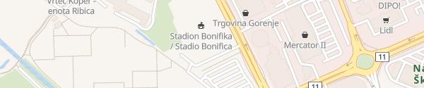 Karte Stromtankstelle Koper