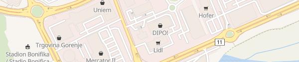 Karte Petrol Koper