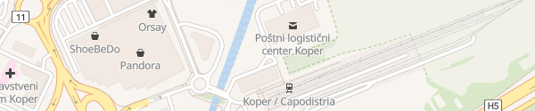 Karte P&R Parking Koper
