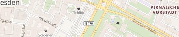 Karte Pirnaischer Platz Dresden