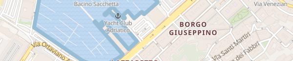 Karte Uferpromenade Trieste