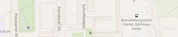 Karte Choriner Straße Eberswalde