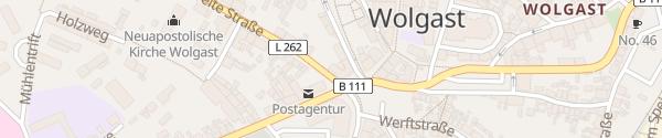 Karte Postel - Post Hostel Wolgast