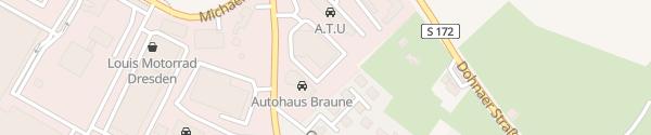 Karte Dresdener Auto AG Dresden
