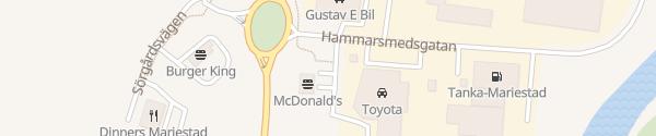 Karte McDonald's Mariestad