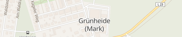 Karte Marktplatz Grünheide