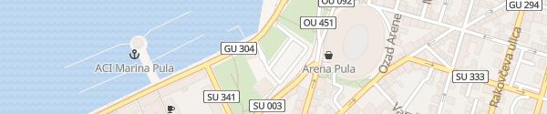 Karte Parking Karolina Pula