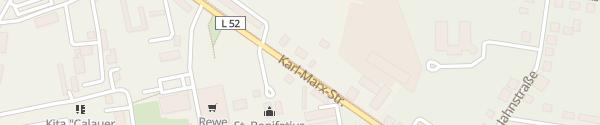 Karte Karl-Marx-Straße Calau