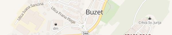Karte Trg Fontana Buzet