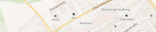 Karte Oberfeldstraße Wels