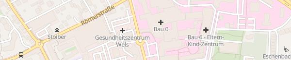 Karte E-Bikes Klinikum Wels