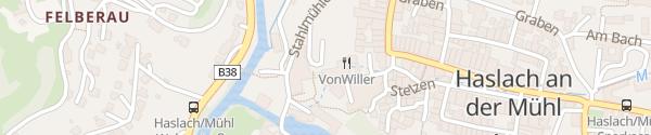 Karte Textiles Zentrum und Webereimuseum Haslach an der Mühl