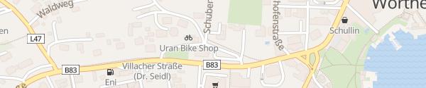 Karte Marietta-Platz Velden am Wörthersee