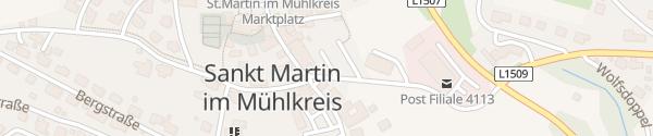 Karte Dorfparkplatz St. Martin im Mühlkreis