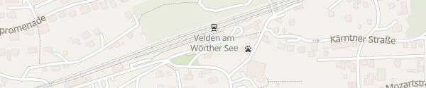 Karte Bahnhof Velden
