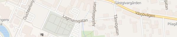 Karte Lagmansgatan Värnamo