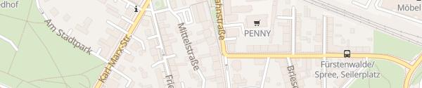 Karte E-Wald Ladesäule Fürstenwalde/Spree