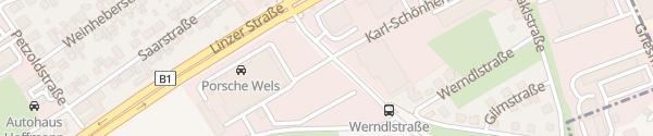 Karte Porsche Wels Wels