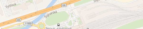 Karte Nádraží Beroun Beroun