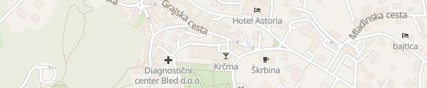 Karte Hotel Jelovica Bled