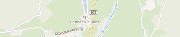 Karte Gasthaus zur Gams Irdning-Donnersbachtal