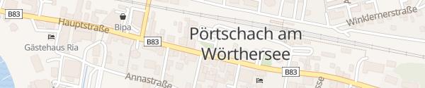 Karte Parkplatz Bahnhofsplatz Pörtschach am Wörthersee