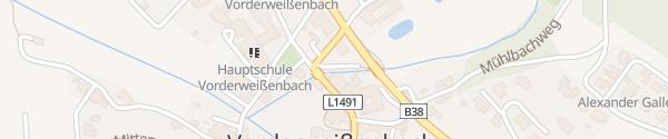 Karte Gemeindeparkplatz Vorderweißenbach